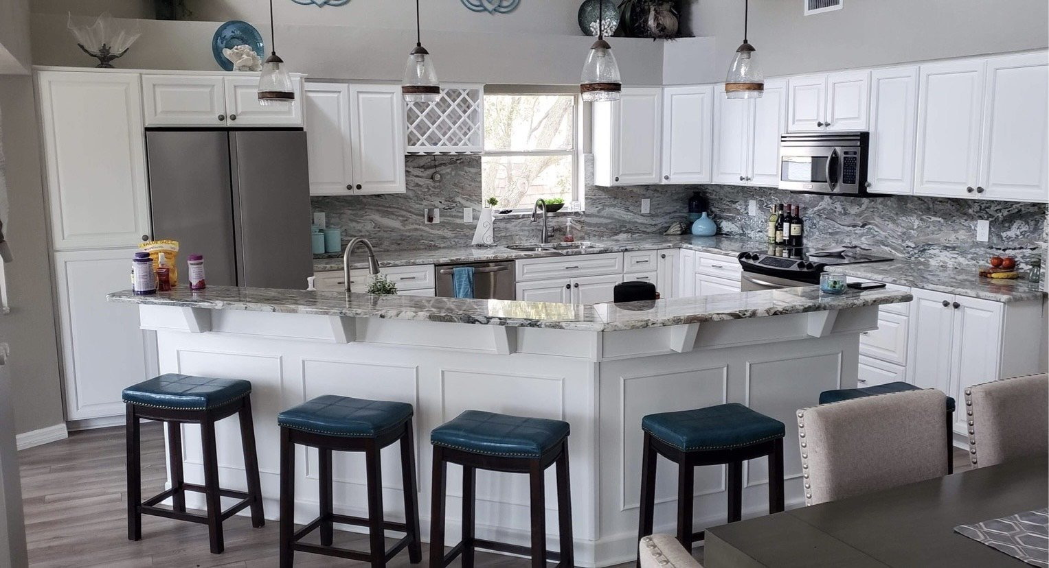 Paint finish for cabinets